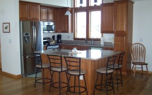 Custom built kitchen for small spaces inOuter Banks home
