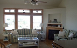 Custom interior design living room in OBX home