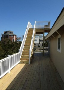 Outer Banks beach box renovation side deck